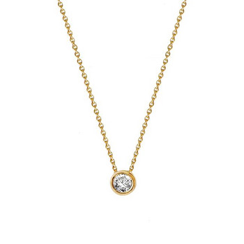 Collier - Gold 585 14K - Diamant 0,20ct H si