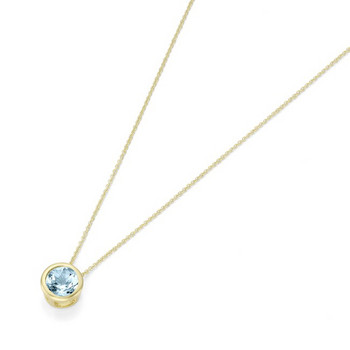 Collier - Gold 375 9K Blautopas - goldfarben