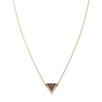 Collier - Triangle Necklace Sandalwood Shiny Gold