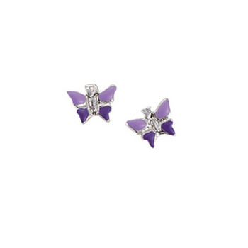 Ohrstecker - Sterlingsilber Emaille - Butterfly