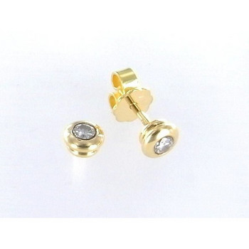 Ohrstecker - Gold 750 18K Brillant 0,09ct - gold