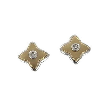 Ohrstecker - Gold 585 14K Brillant 0,02ct