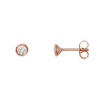 Ohrstecker - Gold 585 14K Diamant 0,10ct - rosé