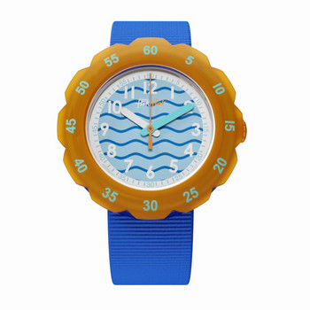 Kinderuhr - Underwater - blau/orange