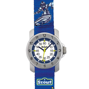 Kinderuhr - Action Boys  Super Knights - blau/gelb
