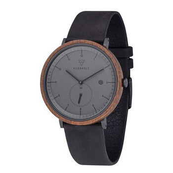 Uhr - Anton Walnut Midnight Black -braun/anthrazit
