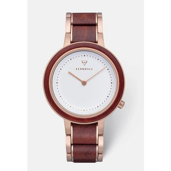 Uhr - Thea Rosewood - Holz Stahl rosé