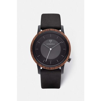 Uhr - Solar - Fred Walnuss Black Leder