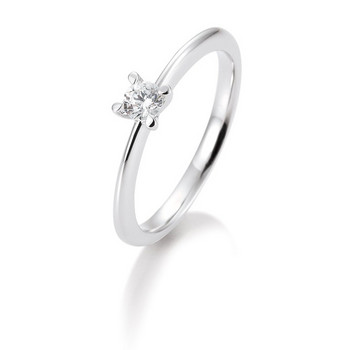 Ring - Weißgold 585 - Brillant Solitaire 0,10ct