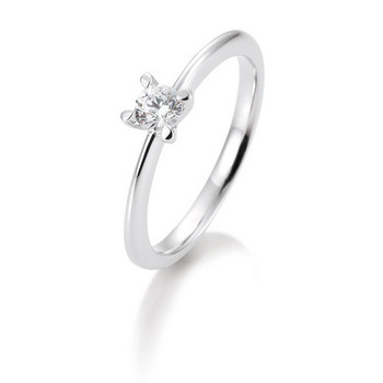 Ring -  Weißgold - 585 14K Brillant 0,15ct