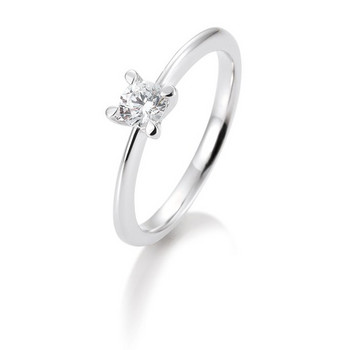 Ring - Weißgold 585 - Brillant Solitair 0,20ct