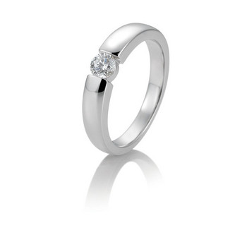 Ring - Weißgold 585 - Spannoptik - Brillant 0,15ct