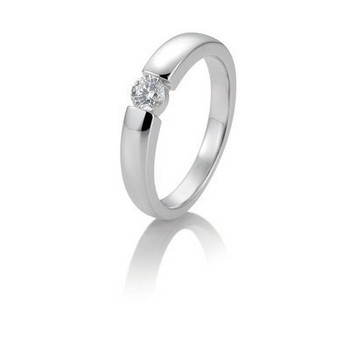 Ring - Weißgold 585 - Spannoptik - Brillant 0,10ct