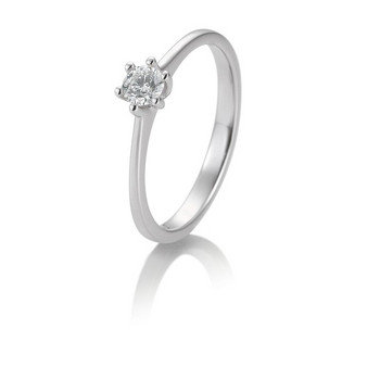 Ring - Weißgold 585 - Solitaire - Brillant 0,15ct