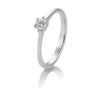 Ring - Weißgold 585 - Solitaire - Brillant 0,10ct