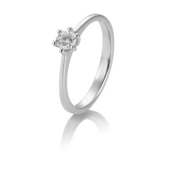 Ring - Weißgold 585 - Solitaire -  Brillant 0,20ct