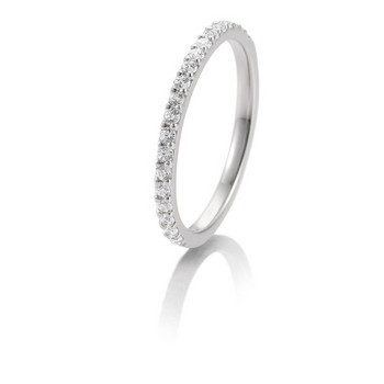Ring - Weißgold 585 - Memoire - Brillanten 0,36ct