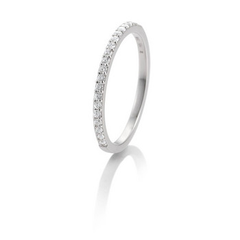 Ring - Weißgold 585 - Memoire - Brillanten 0,26ct