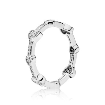 Ring 54 - Sterlingsilber - Alluring Hearts