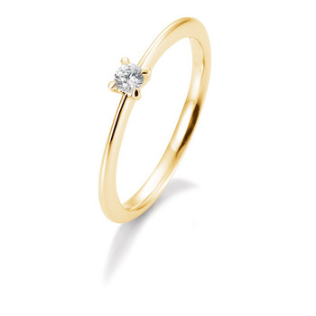Ring - Gelbgold 585 - Brillant 0,10ct Hsi