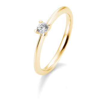 Ring - Gelbgold 585 - Brillant 0,15ct Hsi