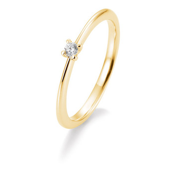Ring - Gelbgold 585 - Brillant 0,05ct Hsi