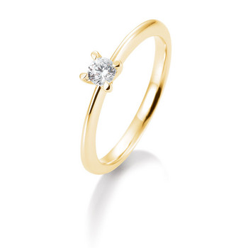 Ring - Gelbgold 585 - Brillant 0,20ct Hsi