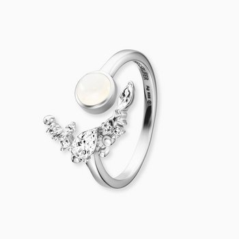 Ring 54 - Sterlingsilber - Moonlight - Zirkonia