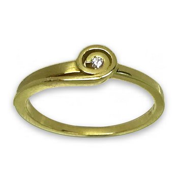 Ring - Gelbgold 585 - Brillant 0,02ct Hsi