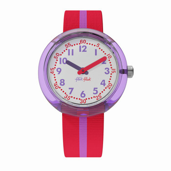 Kinderuhr - Purple Band - rot/violett