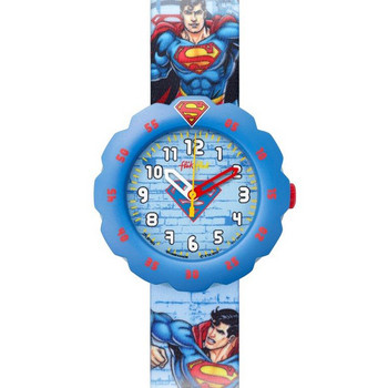 Kinderuhr - Superman's Back In Town - blau